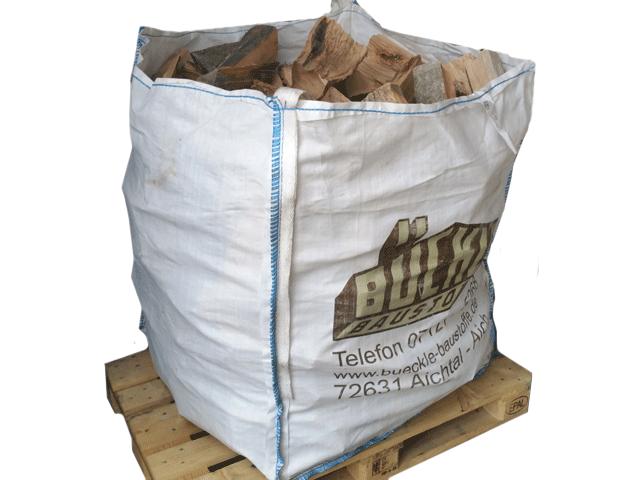 Brennholz im Big-Bag
